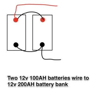 two 12v 100ah batteries-12v 200ah