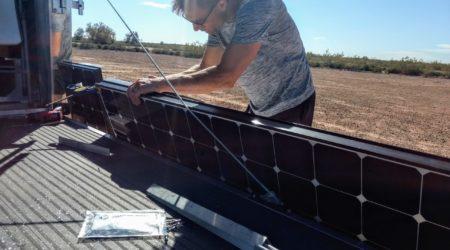 installing residential solar panels on an rv