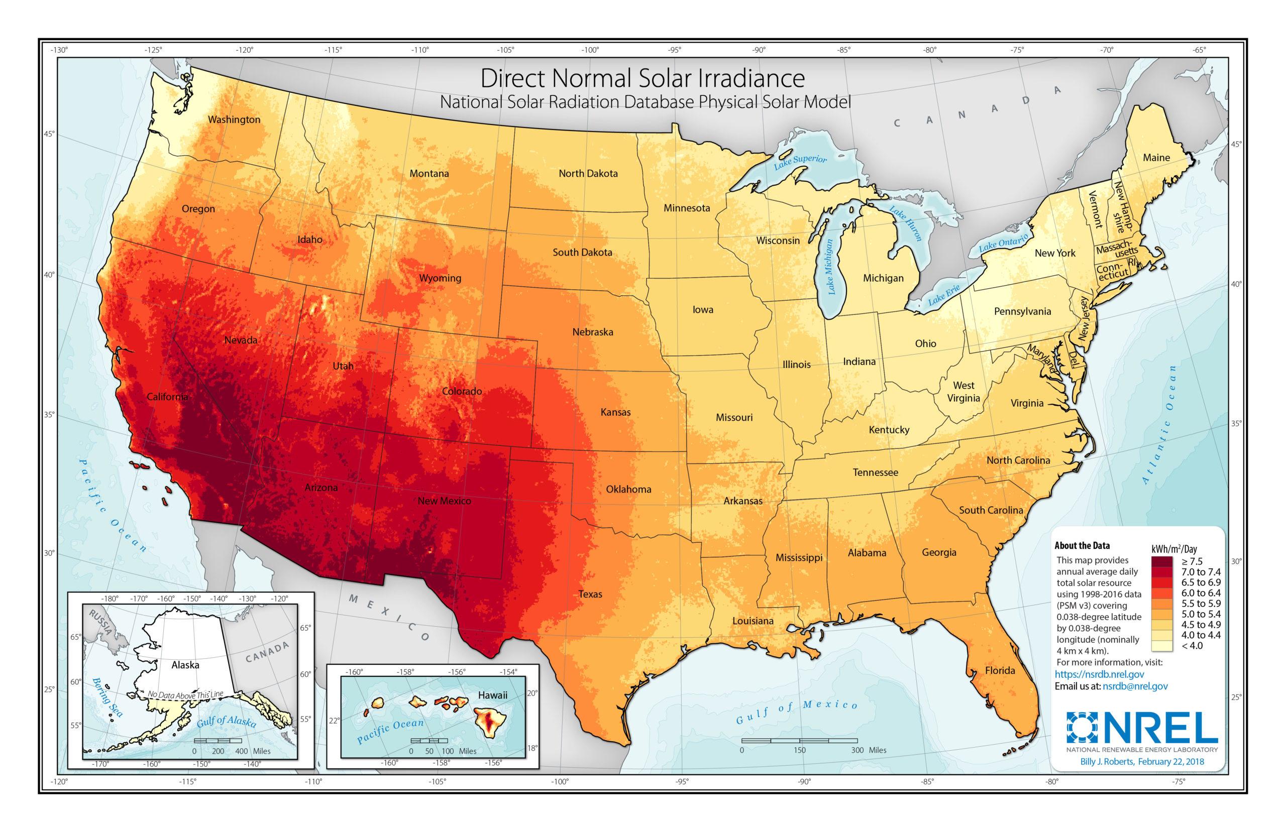 Solar Irradiance Map